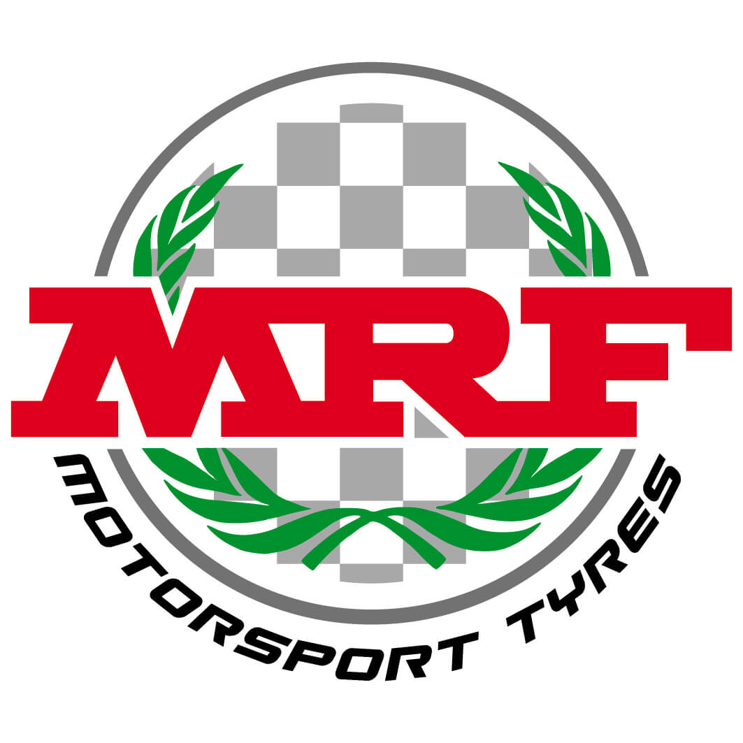 Farbiges rundes MRF-Motorsport-Log